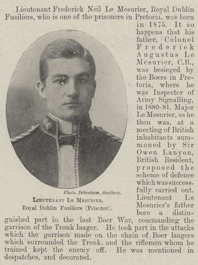Lieutenant Le Mesurier, Royal Dublin Fusiliers--Giclee Print