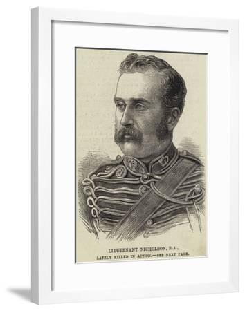 Lieutenant Nicholson, Ra, Lately Killed in Action--Framed Giclee Print