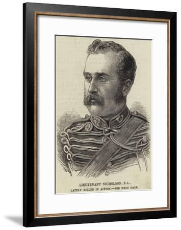 Lieutenant Nicholson, Ra, Lately Killed in Action--Framed Giclee Print