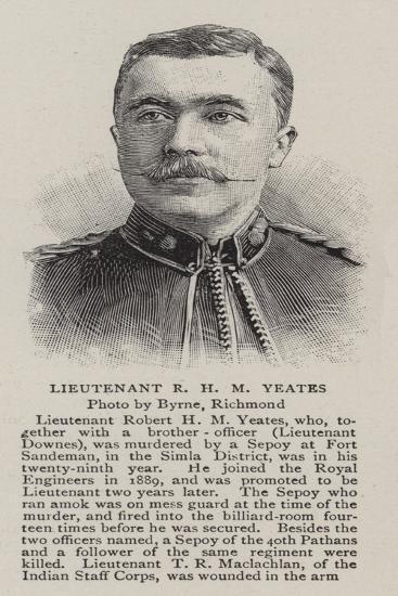 Lieutenant R H M Yeates--Giclee Print