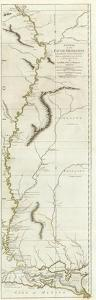Course of the River Mississipi, from the Balise to Fort Chartres, c.1775 by Lieutenant Ross