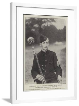 Lieutenant Thomson (Queen's Edinburgh Rifle Brigade), Winner of the Queen's Prize at Bisley--Framed Giclee Print