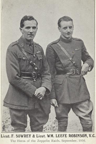 Lieutenants Frederick Sowrey and William Leefe Robinson--Photographic Print