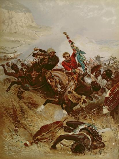 Lieutenants Nelville and Coghill Saving the Colours, 1881-Alfred A.B. de Neauville-Giclee Print