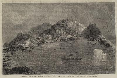 Lievely Harbour, Disco Island, First Halting Place of the Arctic Expedition--Giclee Print