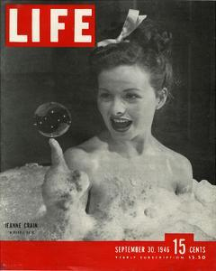 LIFE Actress Jeanne Crain 1946
