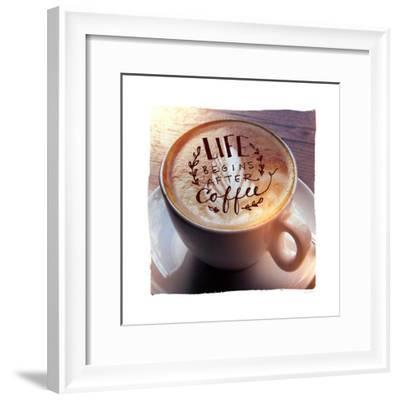 Life Begins After Coffee-Sue Schlabach-Framed Premium Giclee Print