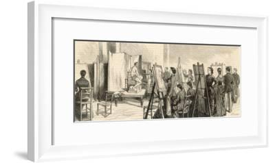 Life Class at the Slade-R. Brown-Framed Giclee Print