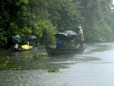 Life During the Monsoon Rains, Kerala, India-Balan Madhavan-Photographic Print
