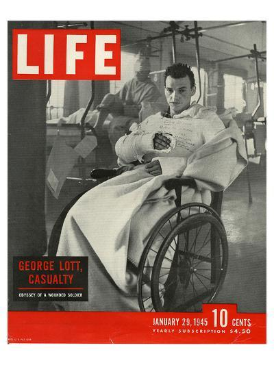 LIFE George Lott wounded Soldier--Art Print