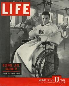 LIFE George Lott wounded Soldier