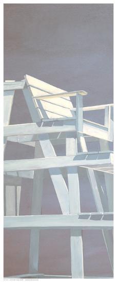 Life Guard Stand (grey)-Carol Saxe-Art Print