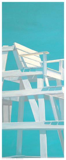 Life Guard Stand (turquoise)-Carol Saxe-Art Print