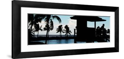 Life Guard Station at Sunset - Miami - Florida-Philippe Hugonnard-Framed Photographic Print