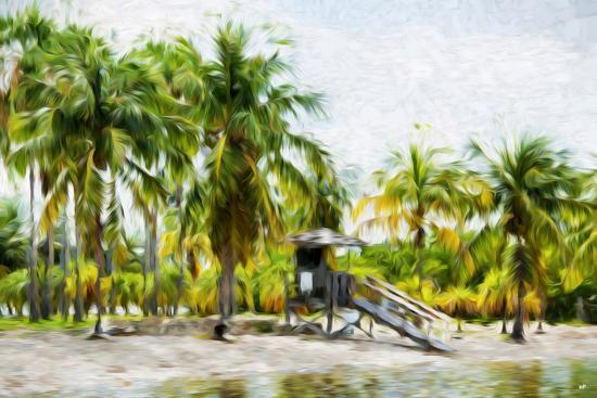 Life Guard Station II - In the Style of Oil Painting-Philippe Hugonnard-Giclee Print