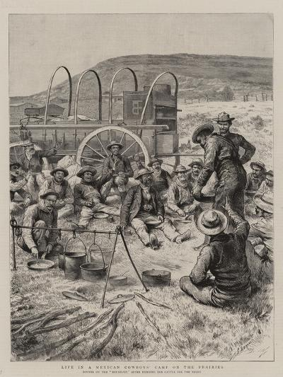 Life in a Mexican Cowboys' Camp on the Prairies-Godefroy Durand-Giclee Print
