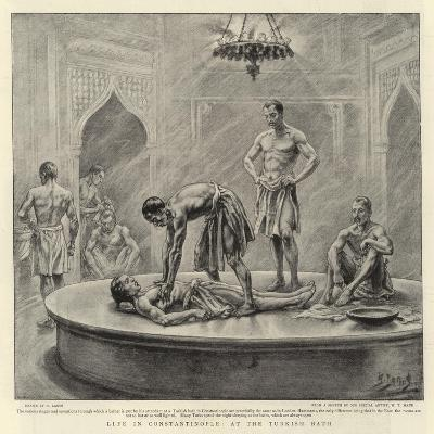 Life in Constantinople, at the Turkish Bath-Henri Lanos-Giclee Print