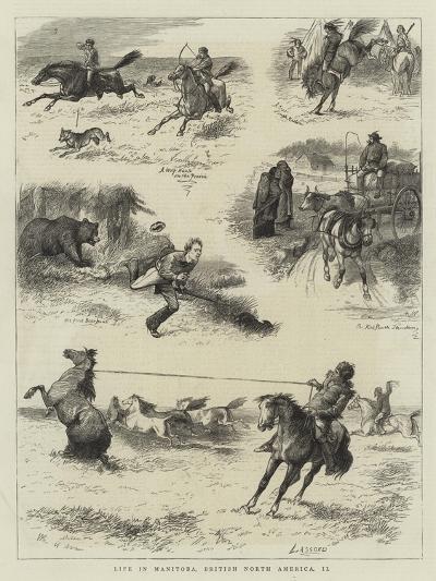 Life in Manitoba, British North America, II-William Ralston-Giclee Print