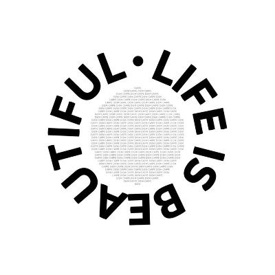 Life Is Beautiful Carpe Diem-Melanie Viola-Art Print