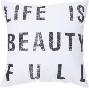 Life Is Beauty Full Down Fill Pillow - White