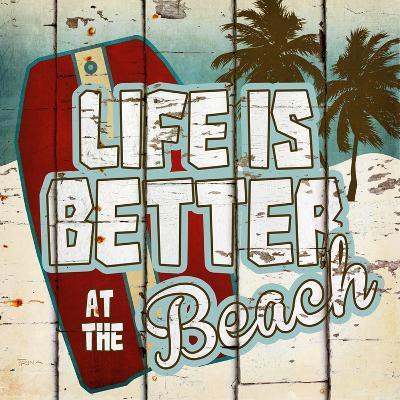 Life is Better at the Beach-Katrina Craven-Art Print