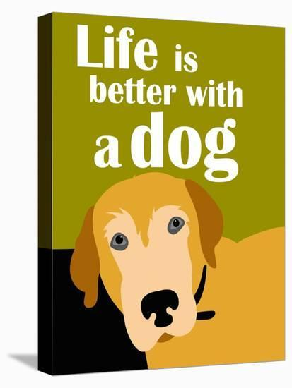 4f26ca86b0 Life is Better with a Dog Art Print by Ginger Oliphant