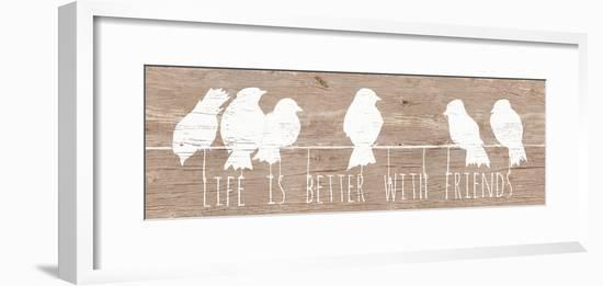 Life is Better with Friends-Patricia Pinto-Framed Premium Giclee Print