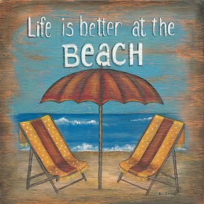 Life Is Better-Kim Lewis-Art Print