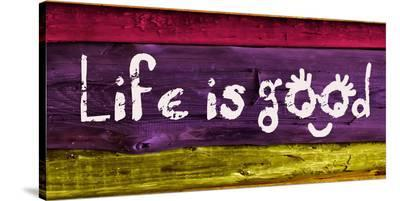 Life is good IV-Irena Orlov-Stretched Canvas Print