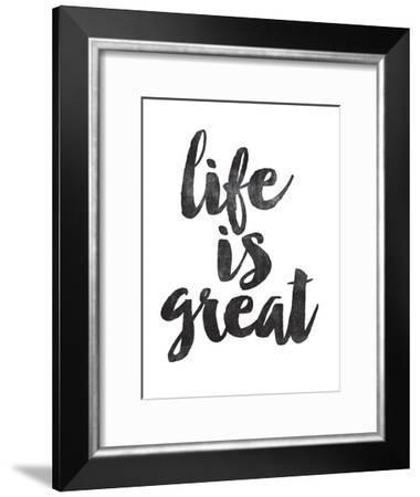 Life is Great-Brett Wilson-Framed Art Print