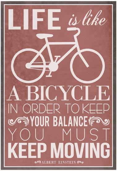 Life Is Like a Bicycle--Poster