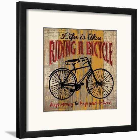 Life is Like Riding a Bicycle-Maria Donovan-Framed Art Print