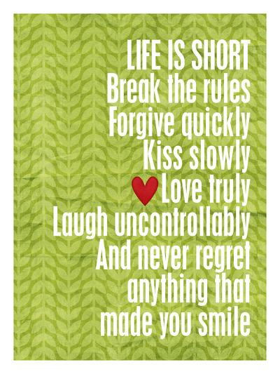 Life is short-Cheryl Overton-Giclee Print