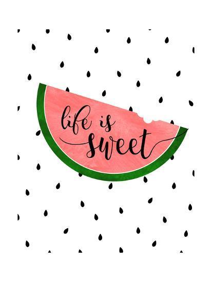 Life is Sweet - Watermelon-Anna Quach-Art Print