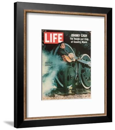 LIFE Johnny Cash Rough-cut King--Framed Art Print