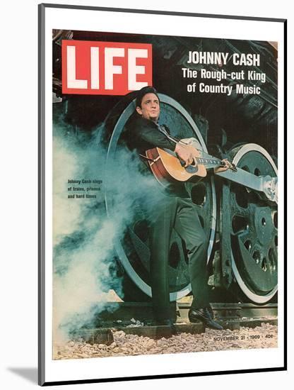 LIFE Johnny Cash Rough-cut King--Mounted Art Print