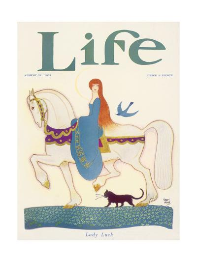 Life, Lady Luck 1924-Rea Irvin-Giclee Print