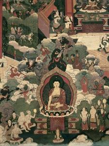 Life of Buddha Sakymuni, the Armies of Mara Attacking the Blessed