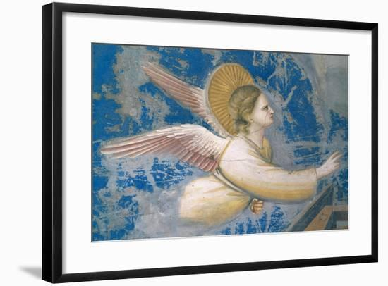 Life of Christ, Angel at the Nativity-Giotto di Bondone-Framed Art Print