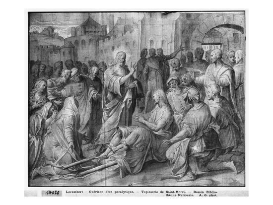 Life Of Christ Jesus Healing A Paralytic At Capernaum Preparatory Study Tapestry Cartoon