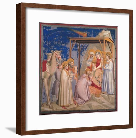 Life of Christ, The Adoration of the Magi-Giotto di Bondone-Framed Art Print