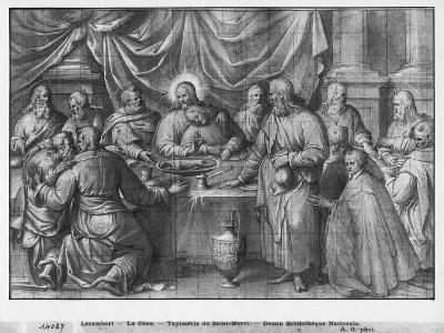 Life of Christ, the Last Supper, Preparatory Study of Tapestry Cartoon-Henri Lerambert-Giclee Print