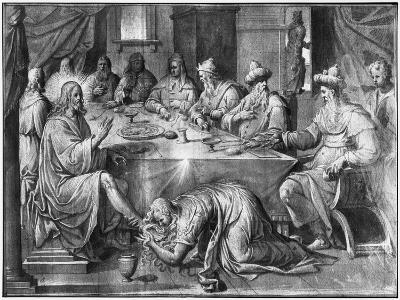 Life of Christ, the Meal at the House of Simon the Pharisee-Henri Lerambert-Giclee Print