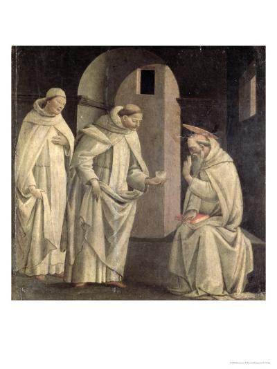 Life of St. Benedict: St. Benedict Blessing the Cup of Poison Which Shatters, c.1488- Bartolomeo Di Giovanni-Giclee Print