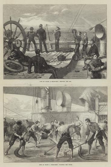 Life on Board a Troop-Ship--Giclee Print