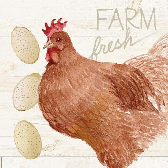 Life on the Farm Chicken II-Kathleen Parr McKenna-Art Print