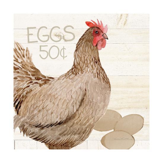 Life on the Farm Chicken III-Kathleen Parr McKenna-Art Print