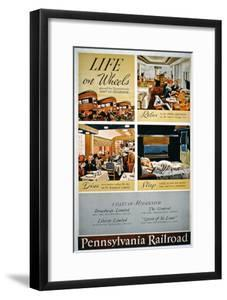 Life on Wheels', Advertisement for the Pennsylvania Railroad