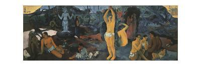 Life's Questions-Paul Gauguin-Premium Giclee Print
