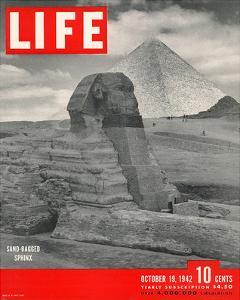 LIFE - Sand-bagged Sphinx 1942